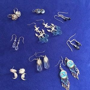 9 pr pierced earrings